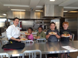 Cullen and the little chefs proudly show off their final creations.